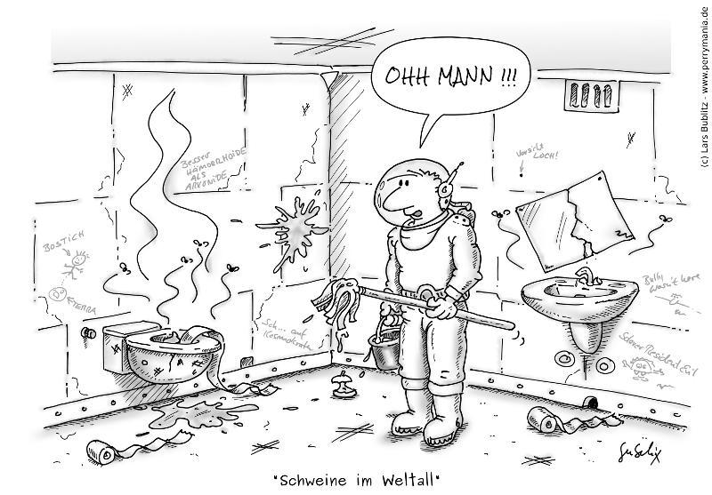 Daily Perry 078 - SchweineImWeltall