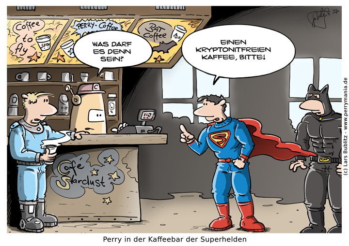 Daily Perry 383 - Superhelden Kaffeebar