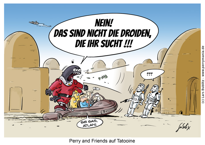 Daily Perry 444 - Perry and Friends auf Tatooine