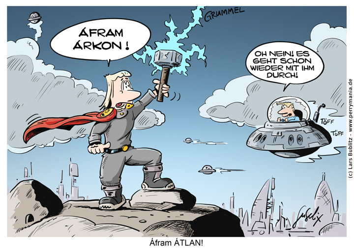 Daily Perry Cartoon Nummer 452 - AtlanThor